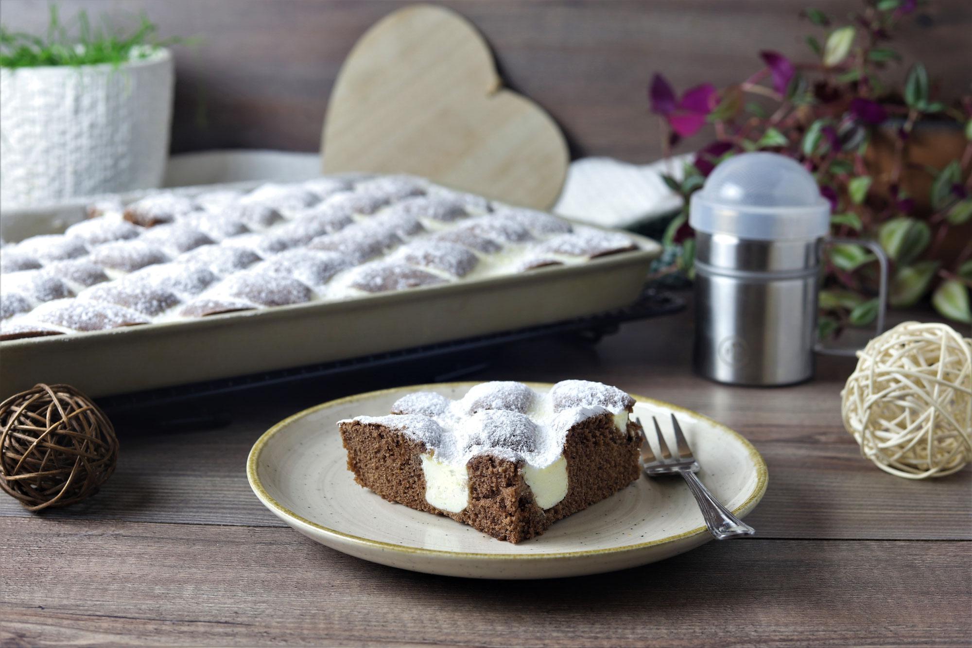 Schoko-Steppdeckenkuchen im großen Ofenzauberer von Pampered Chef®
