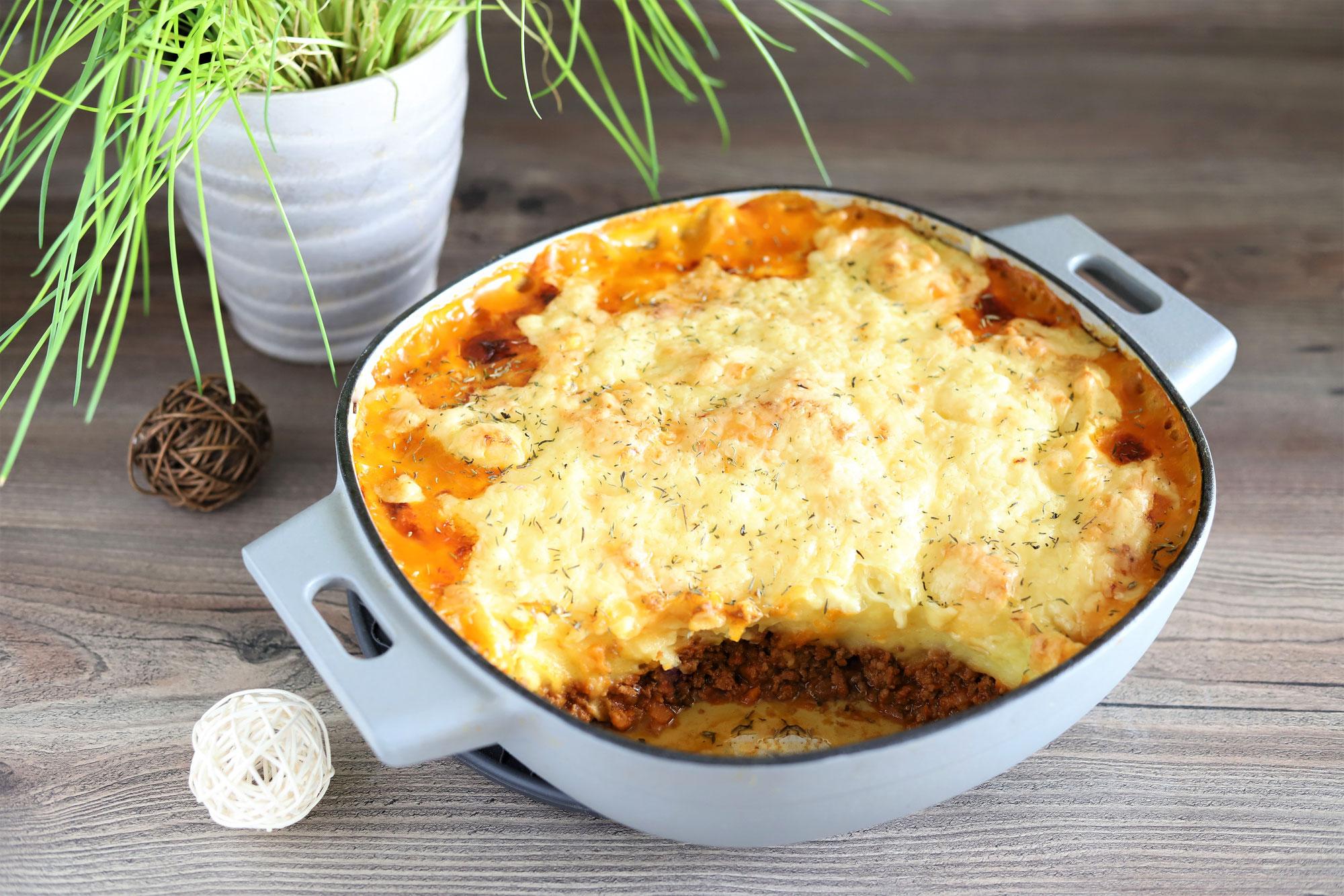 Shepherd´s Pie oder Cottage Pie aus der gusseisernen Pfanne von Pampered Chef®