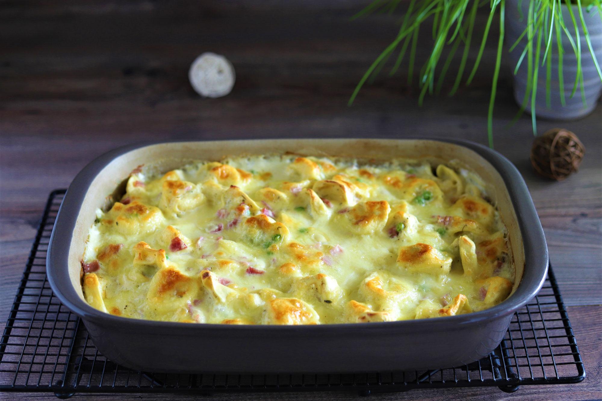 Tortellini-Mozzarella-Gratin in der Ofenhexe von Pampered Chef®