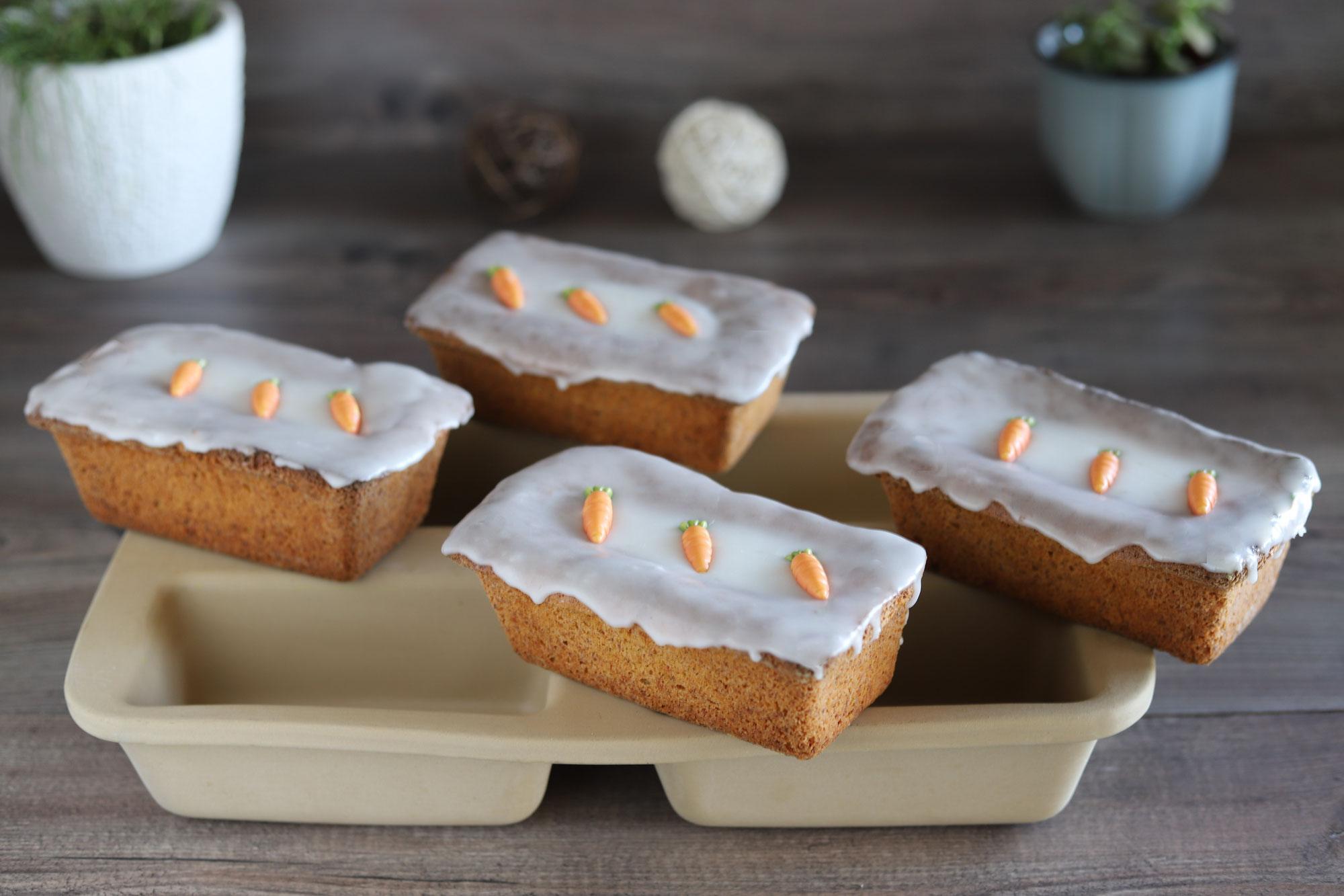 Karottenküchlein in der Mini-Kastenform von Pampered Chef®