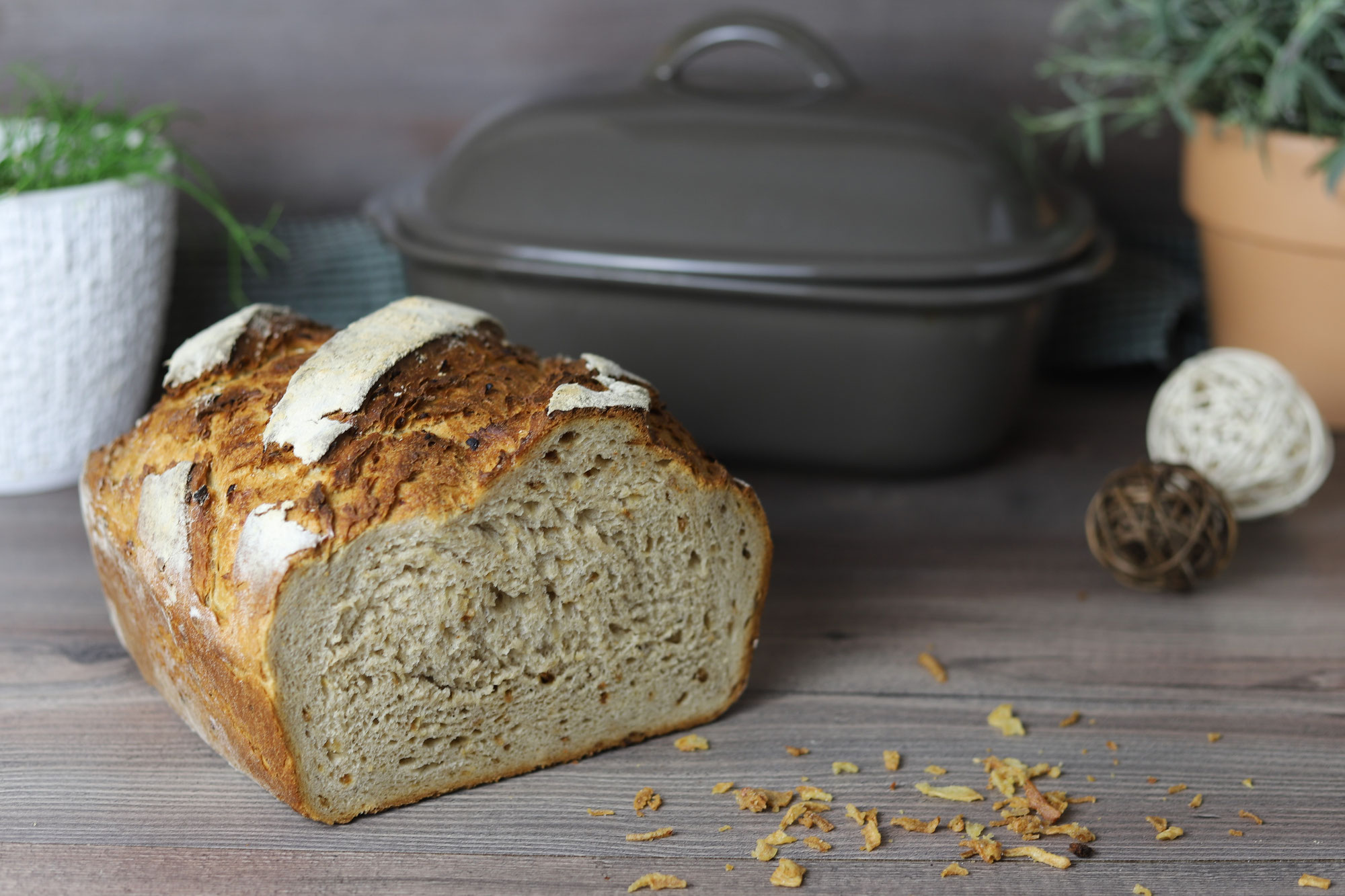 Röstzwiebelbrot im Ofenmeister von Pampered Chef®