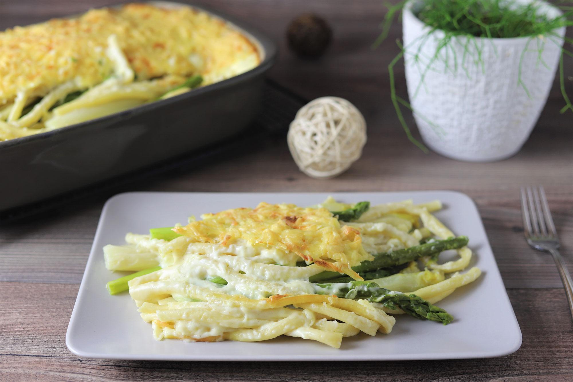 Spargel-Makkaroni in der Ofenhexe von Pampered Chef®