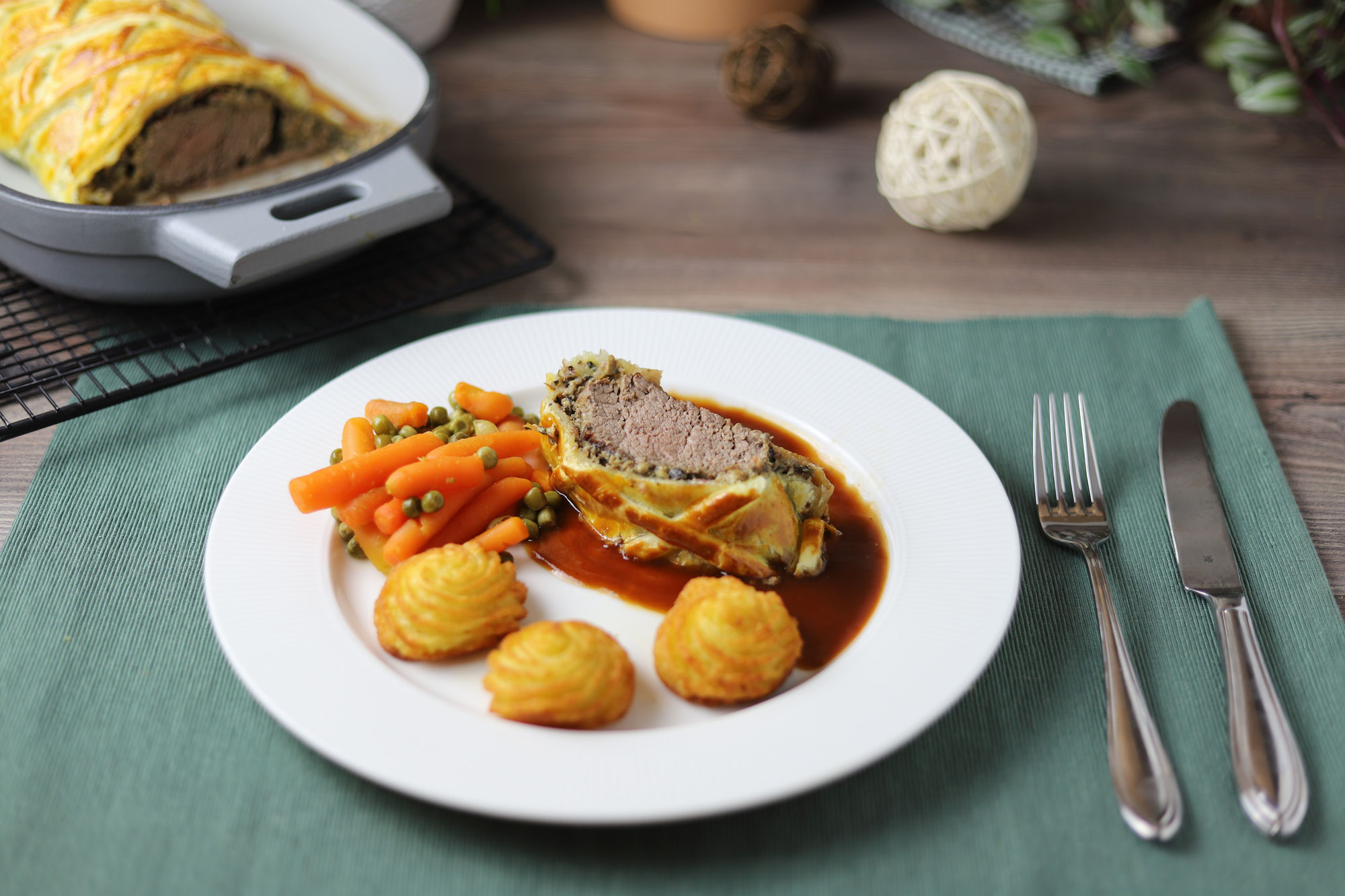 Filet Wellington im gusseisernen Baker von Pampered Chef®