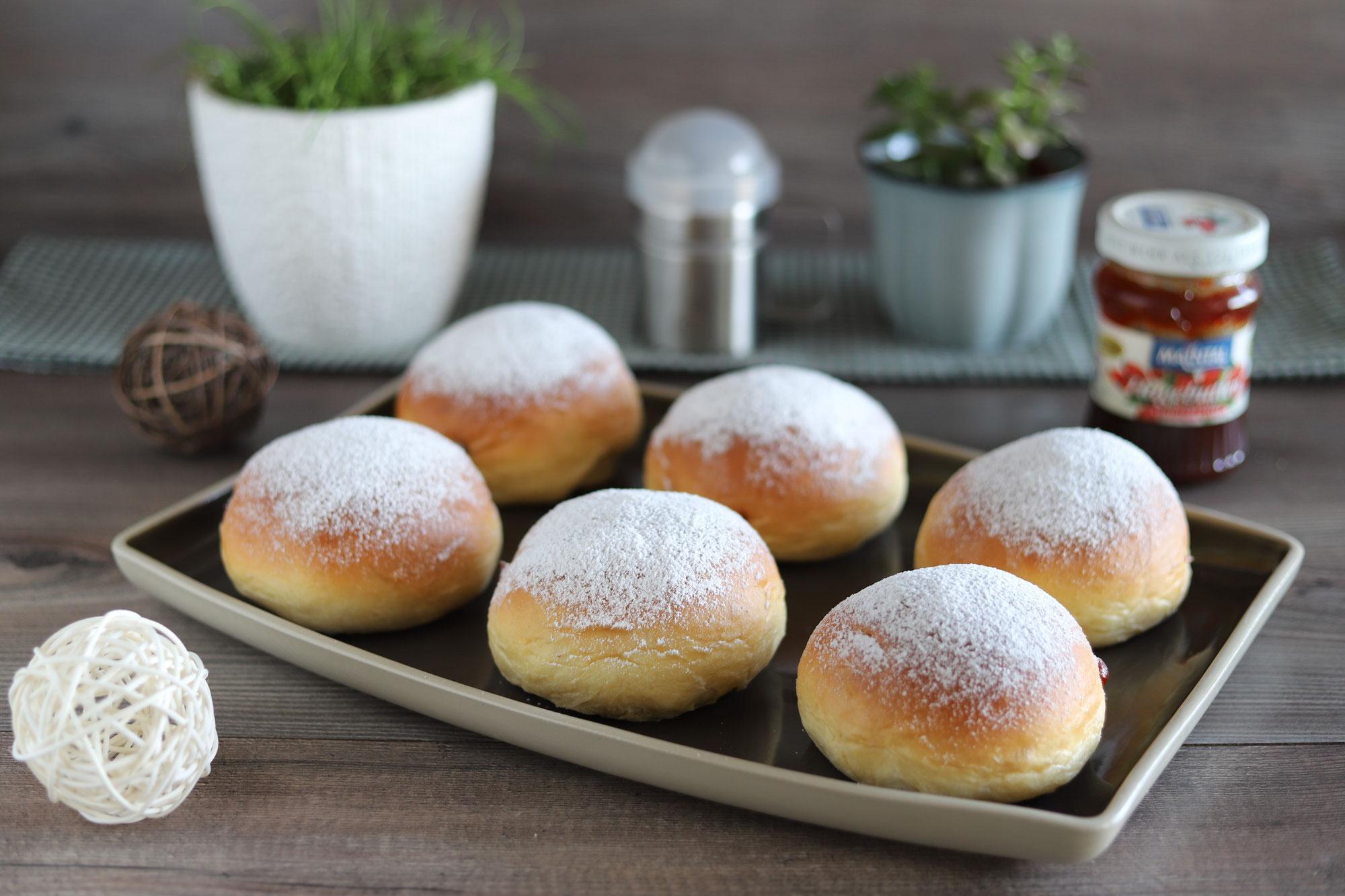 Faschingskrapfen aus dem Ofen vom Zauberstein von Pampered Chef®