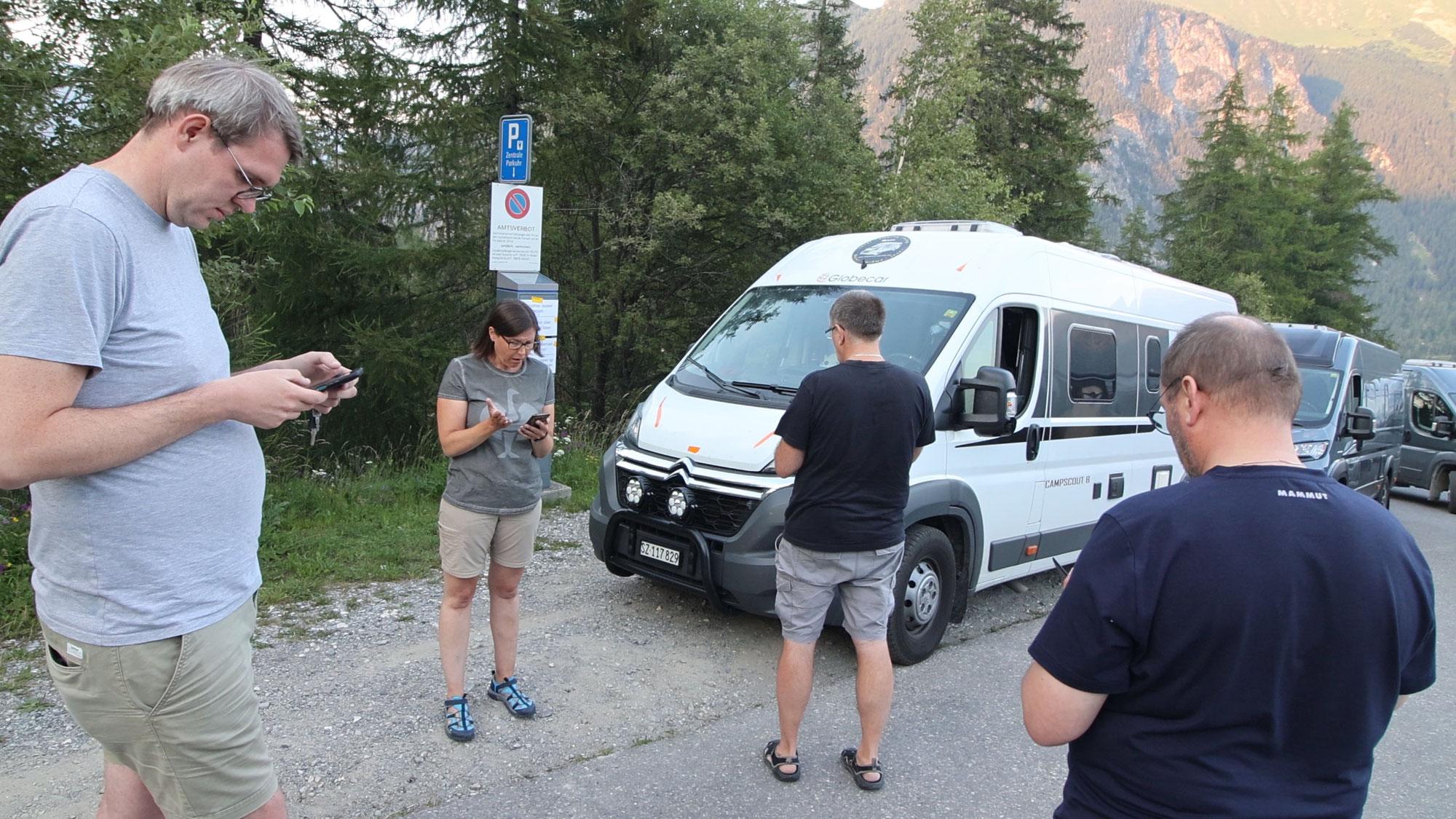 #286 Graubünden - 100.000 km...ein Weisser und vier Silberne plus Vollmond