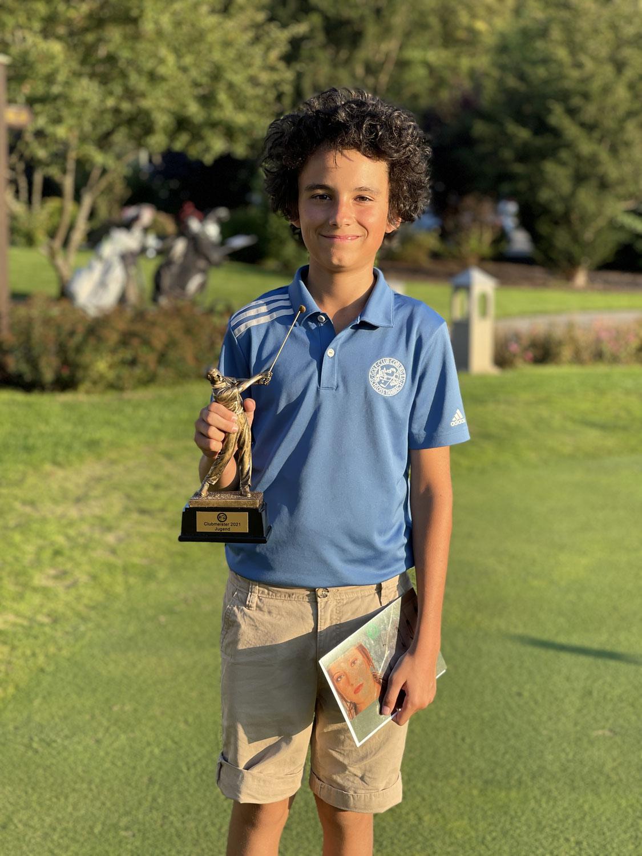 Luca  Karneth gewinnt die Clubmeisterschaft der Jugend 2021, GC Coburg Schloss Tambach e.V.