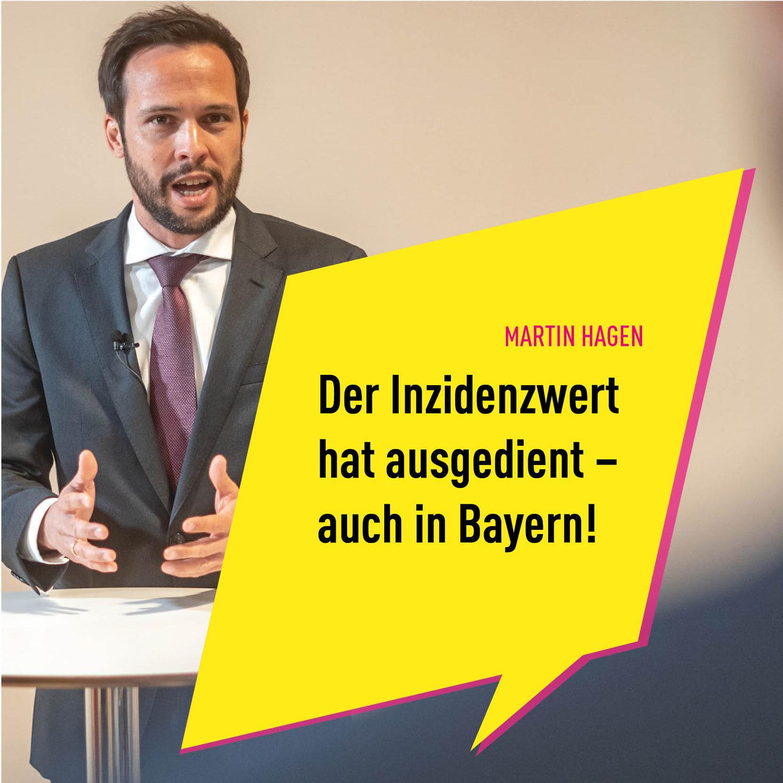 HAGEN: Inzidenzwert hat ausgedient – auch in Bayern!