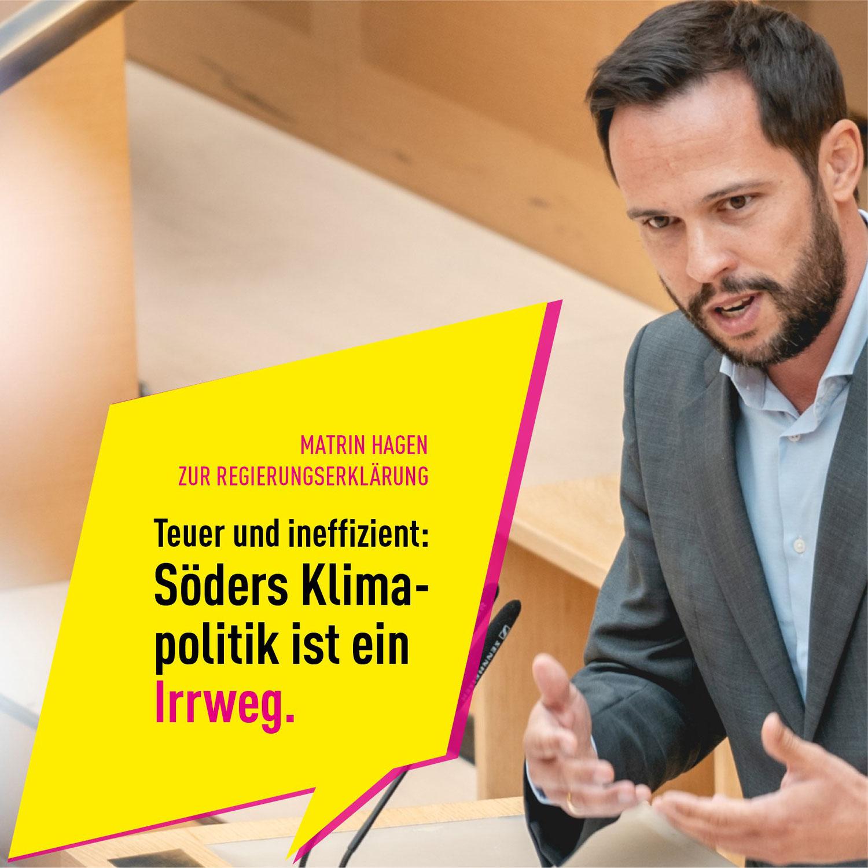 HAGEN und SKUTELLA: Reine Symbolpolitik beim Klimaschutz – Söder setzt Irrweg in Bayern nahtlos fort