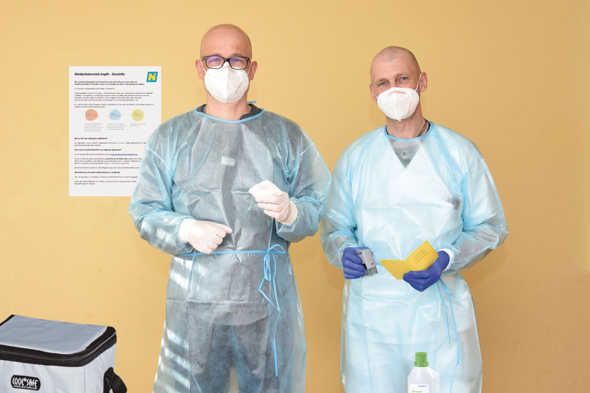 Covid-Impfung: LK Horn unterstützte Pflegezentrum Weitra