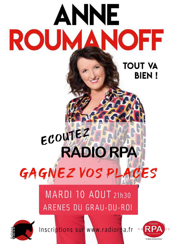 Jeu Radio RPA - Anne Roumanoff - Grau du Roi - Mardi 10 Aout 2021