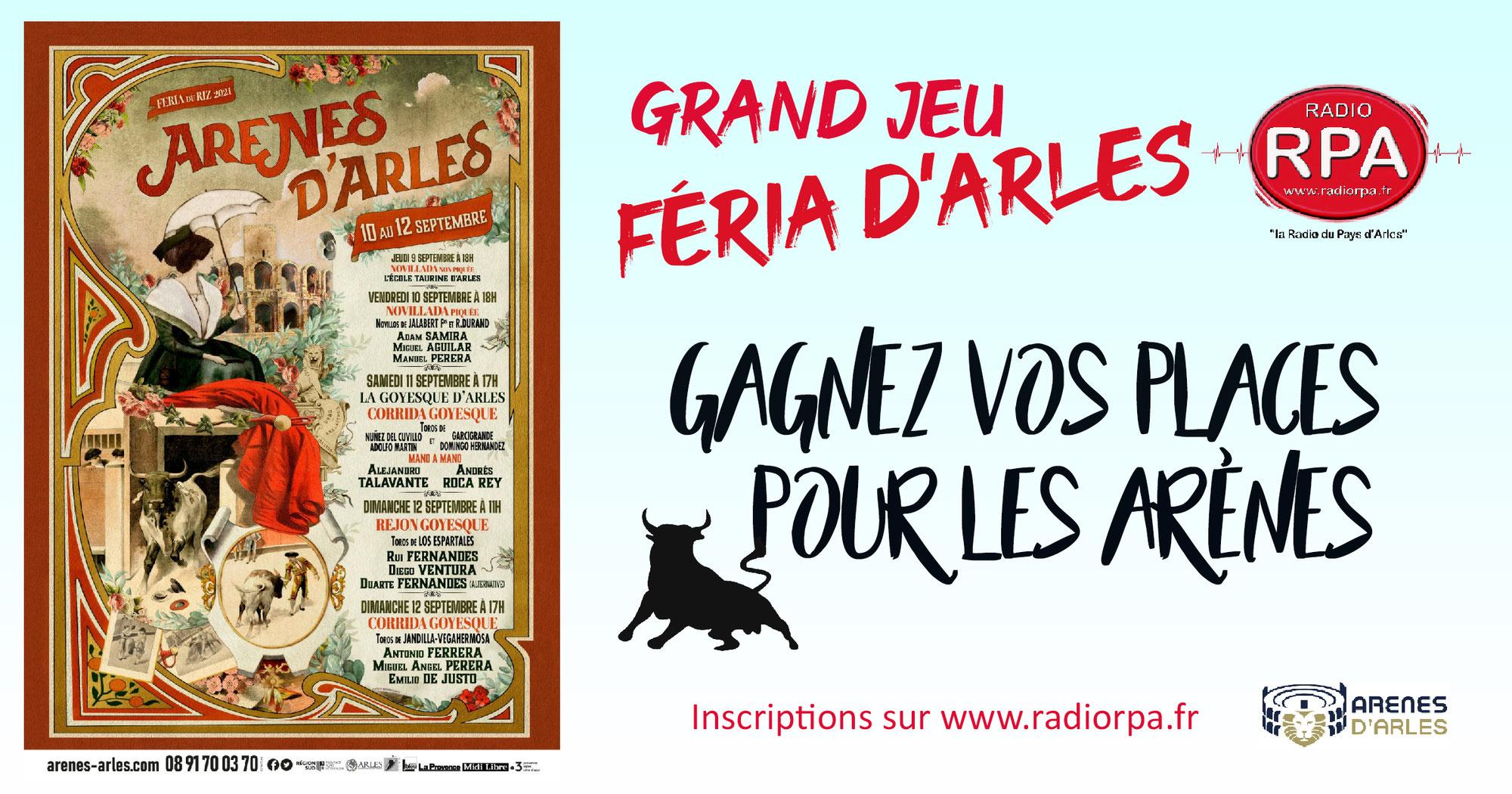 Jeu Radio RPA - Feria du riz Arles 2021