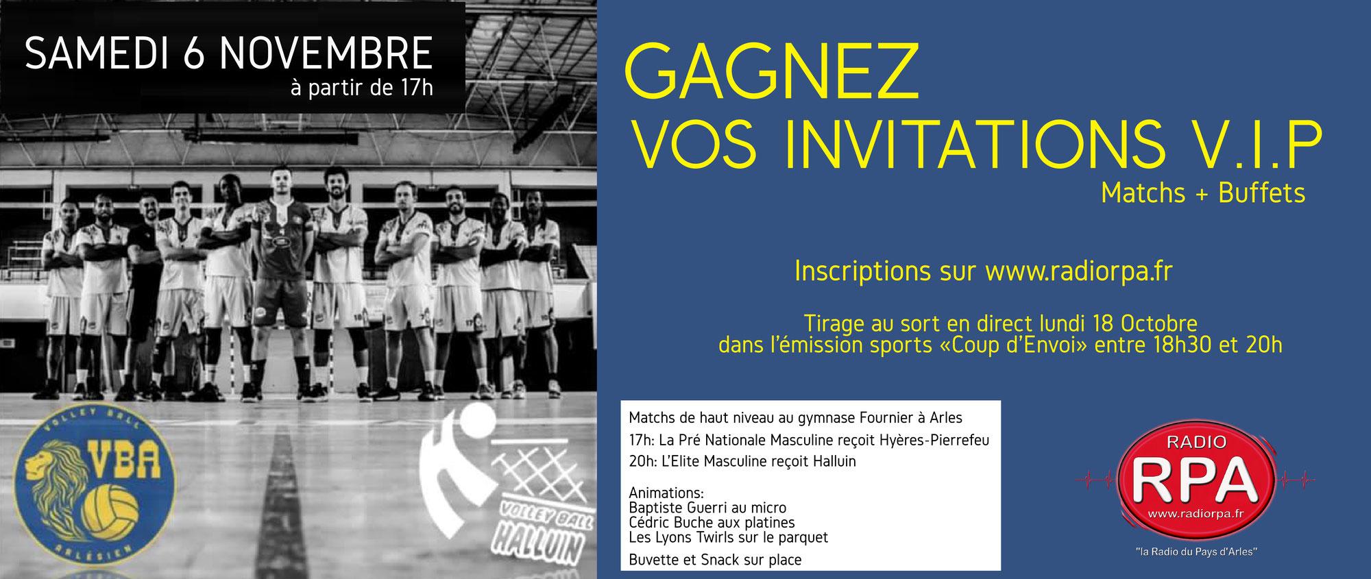 Jeu Radio RPA - Jour de match - Volley Ball Arlésien