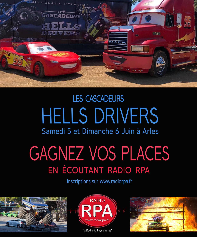 Gagnez vos places pour le spectacle des Cascadeurs Hells Drivers à Arles