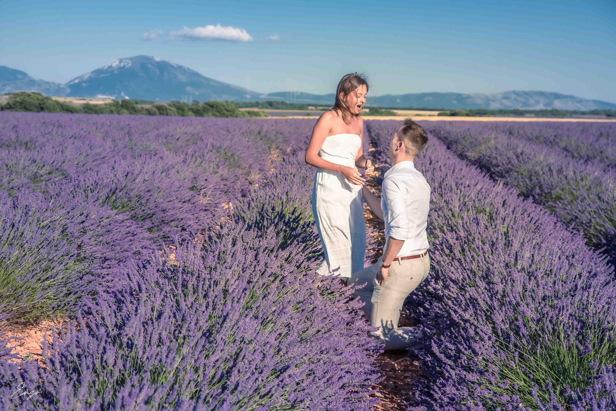 Une idée de demande en mariage en Provence