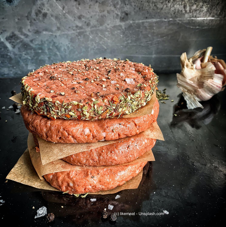Vegane Hamburger Patties im Trend