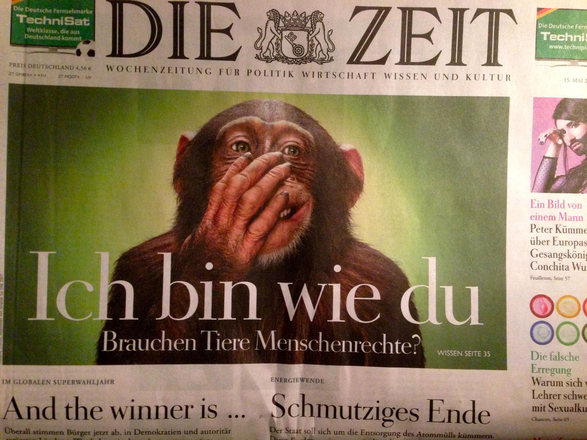 Die ZEIT-Titelstory: Ich bin wie Du - Brauchen Tiere Menschenrechte?