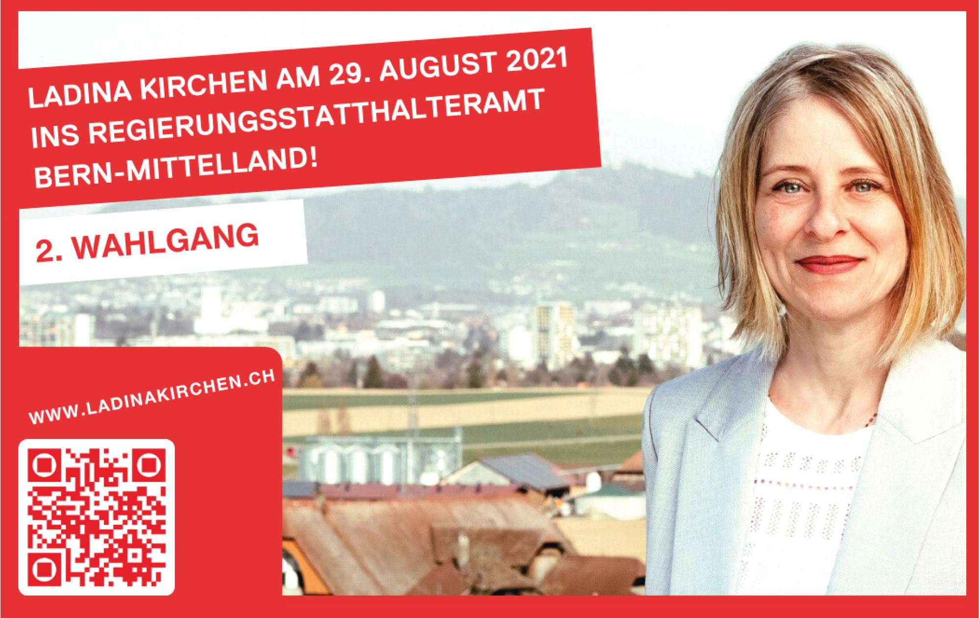 Wahl der Regierungsstatthalterinnen und Regierungstatthalter Bern-Mittelland