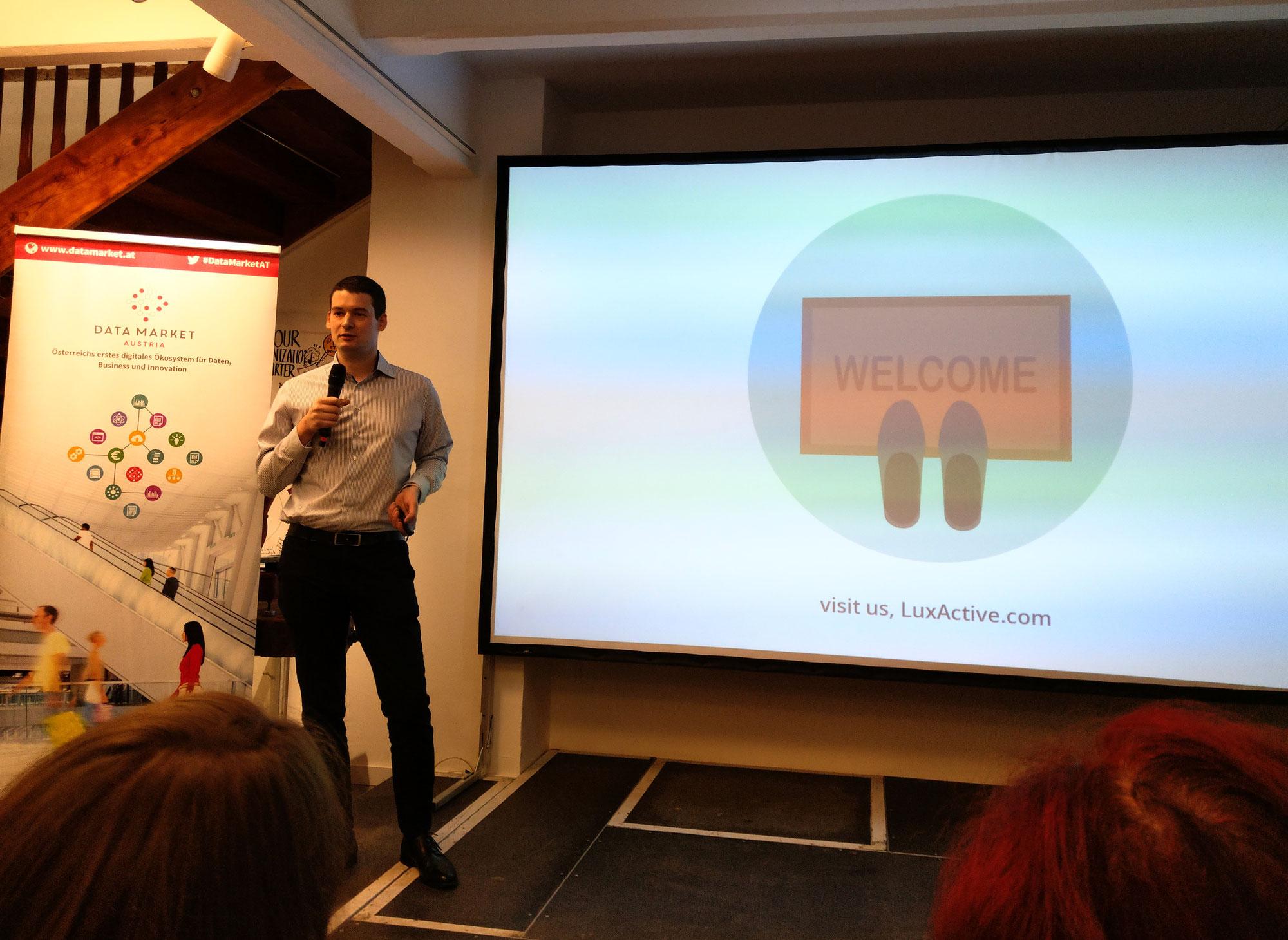 LuxActive bei der Ignite Night über den Data Market Austria (DMA)