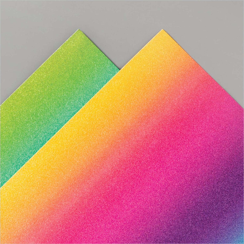 Stampixies - Team Blog Hop Glitzerpapier in Regenbogenfarben