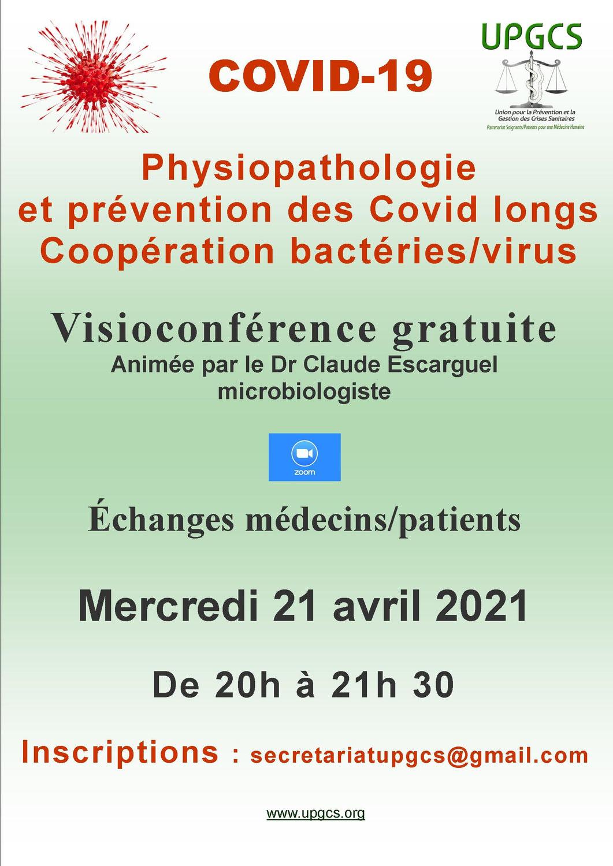 Physiopathologie et prévention des Covid-longs : la piste des coopérations « bactéries /virus ne doit pas être écartée », une conférence de Claude Escarguel