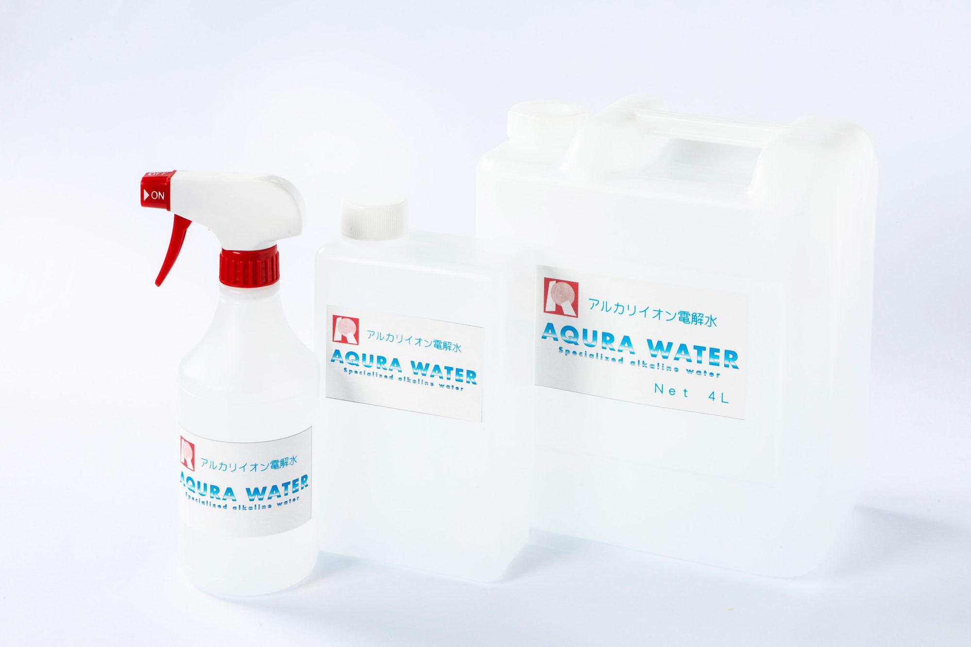 アルカリイオン電解水の力(AQURA WATER)