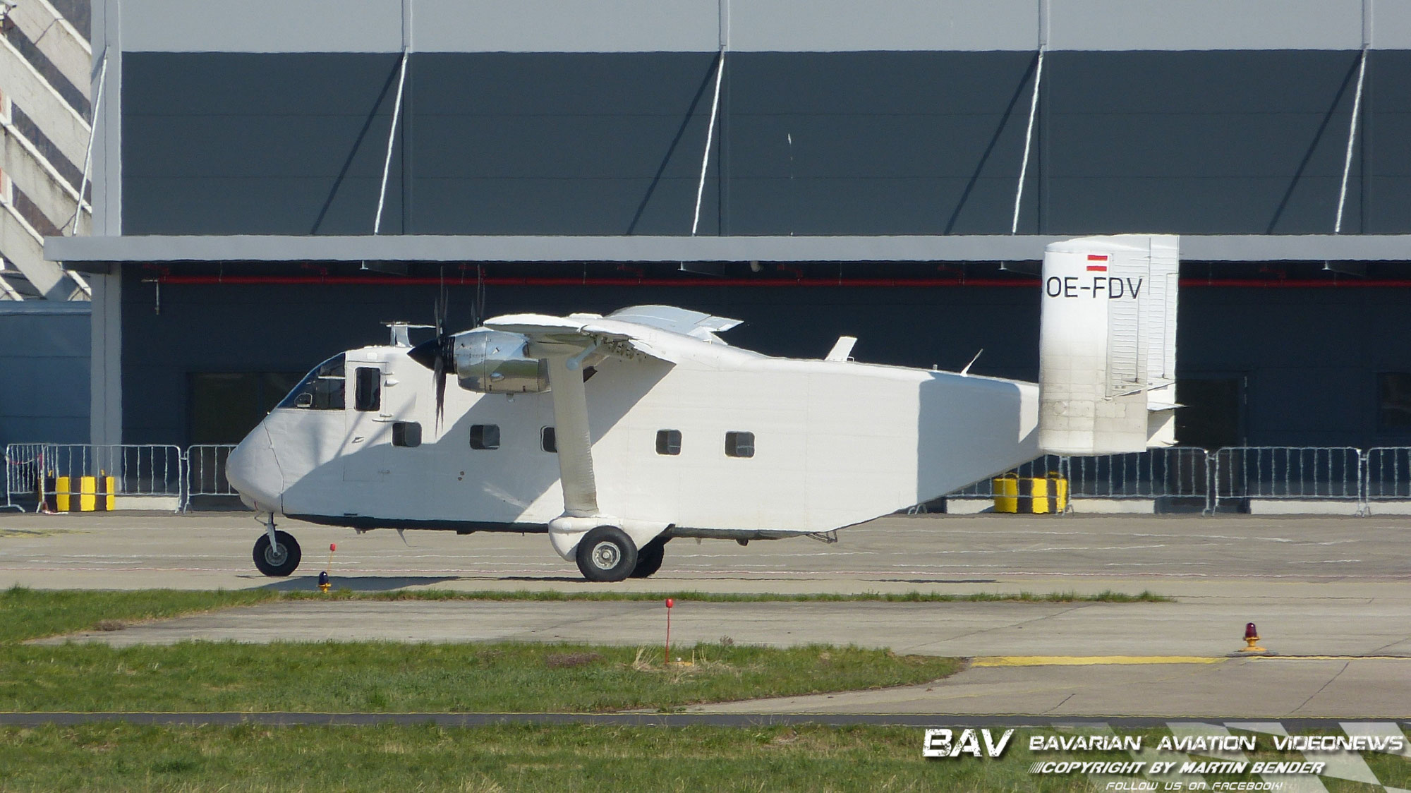 Erste Skyvan mit 7-Blatt Propeller