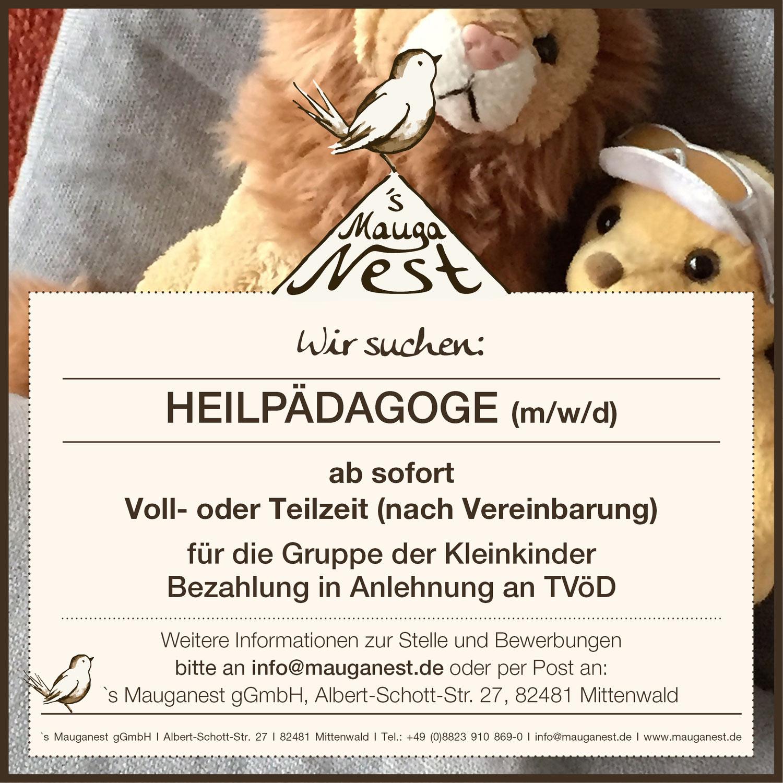 Stellenausschreibung Heilpädagoge (m/w/d)
