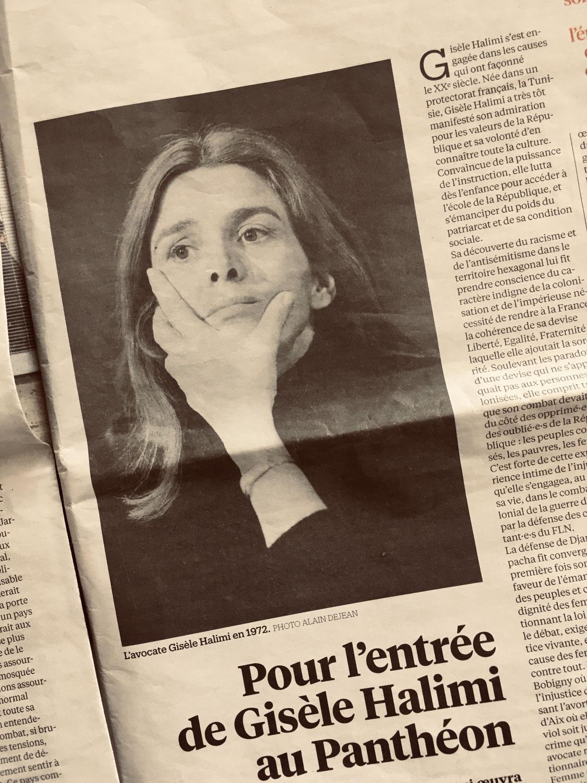 Pour l'entrée de Gisèle Halimi au Panthéon : l'appel de Choisir !