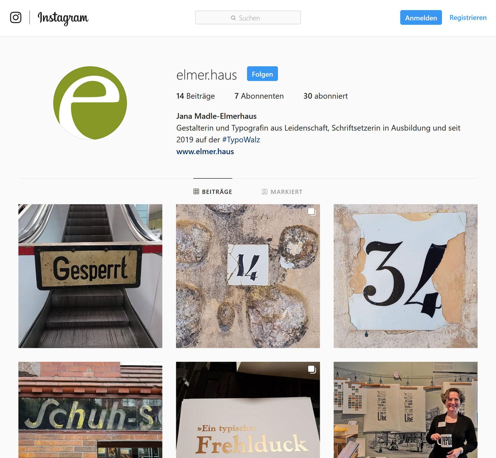 Nun haben wir für die TypoWalz ein Instagram-Profil