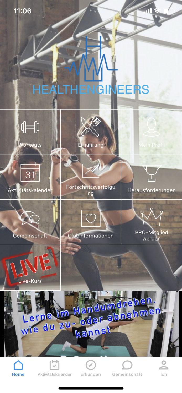Tipp #3 Trainingspläne und Workouts in der App - Healthengineers