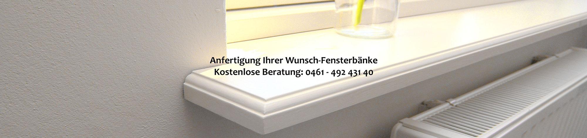 Fensterbank weiß Innen • Individuell auf Maß - AusHolz.biz