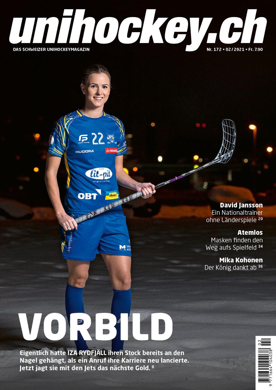 Unihockeyfotos für Unihockey.ch mit Iza Rydfjäll