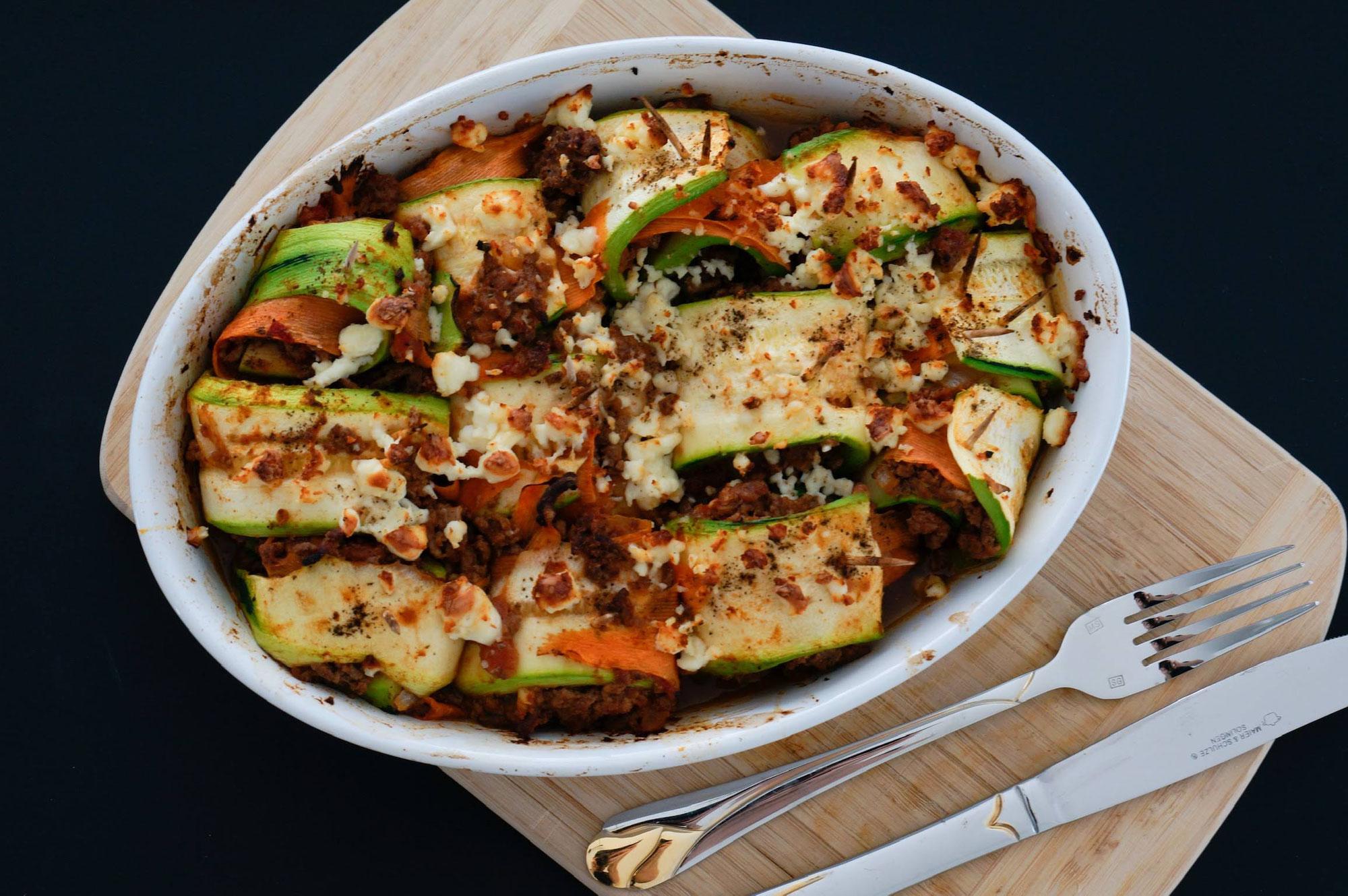 Zucchini Cannelloni | lowcarb, lecker & gesund