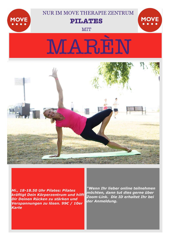 Bringe Atmung und Bewegung in Einklang mit Pilates bei Marén