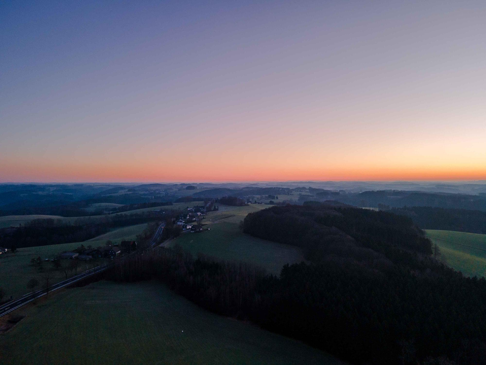 Sonnenaufgang Nähe Wipperfürth