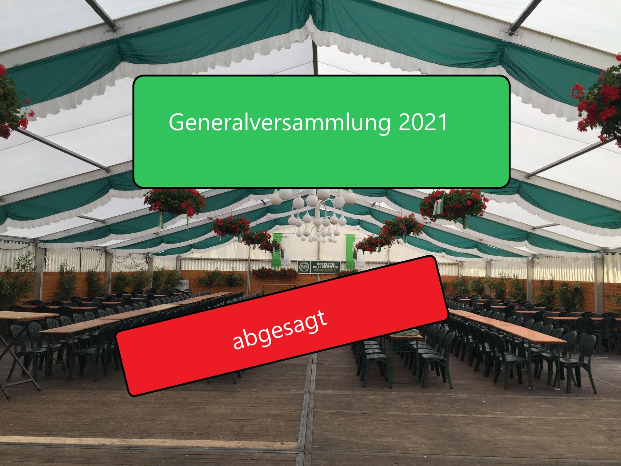 Generalversammlung Absage