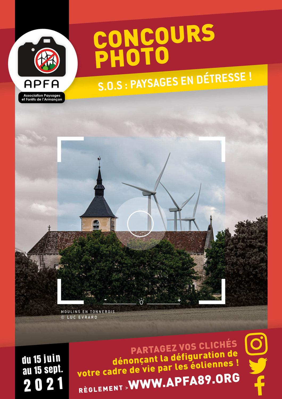 """Concours Photo - Eoliennes : """"S.O.S. Paysages en détresse"""""""