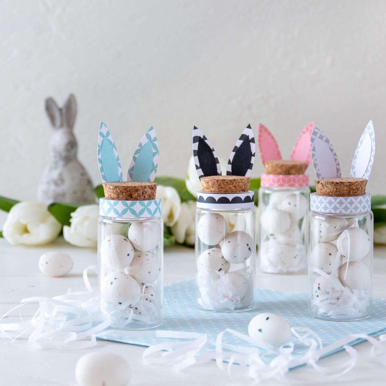 Kleine Geschenke Ostern: Süssigkeiten im Mini- Glas