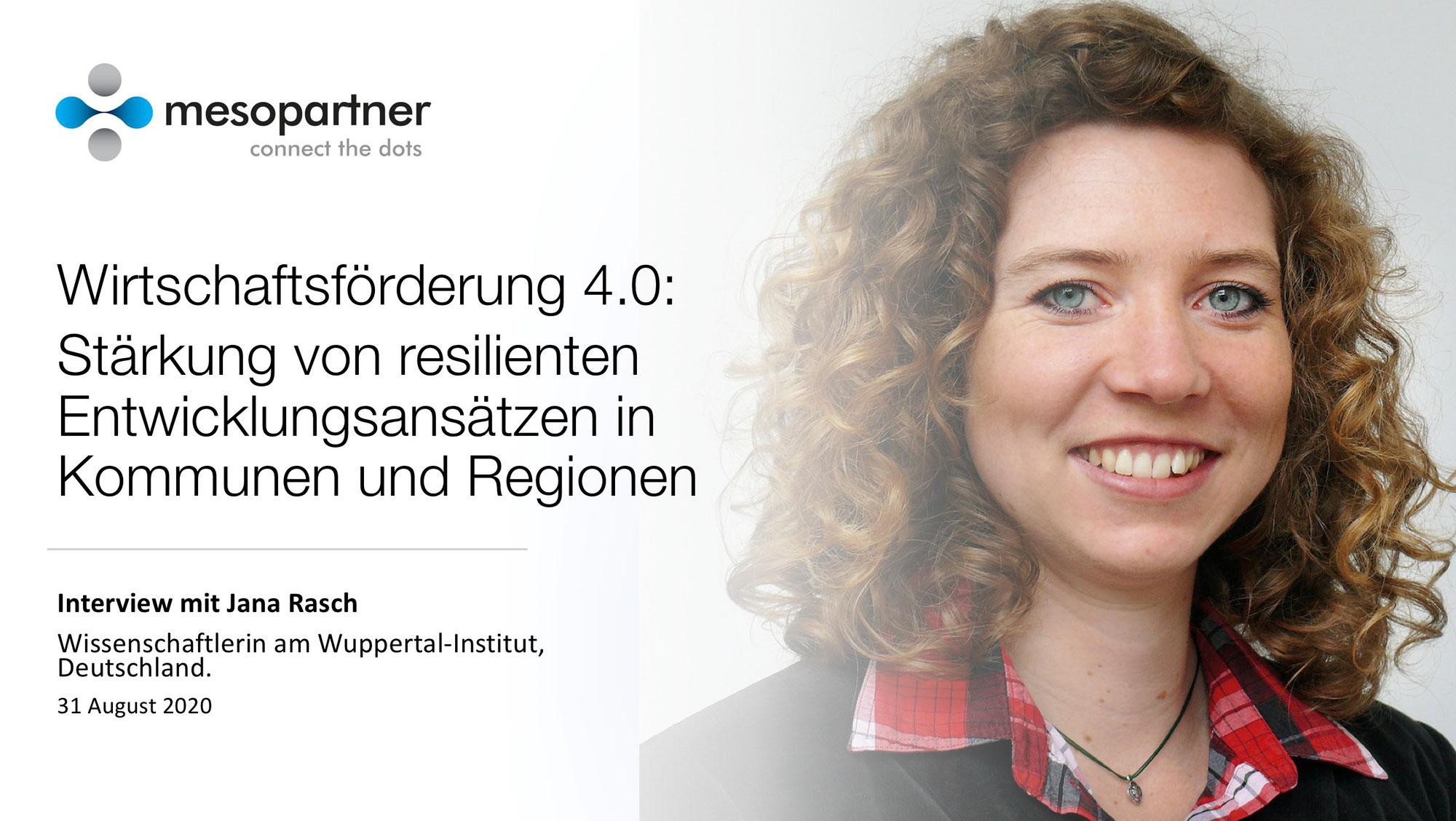 Videocast mit Jana Rasch vom Wuppertal Institut