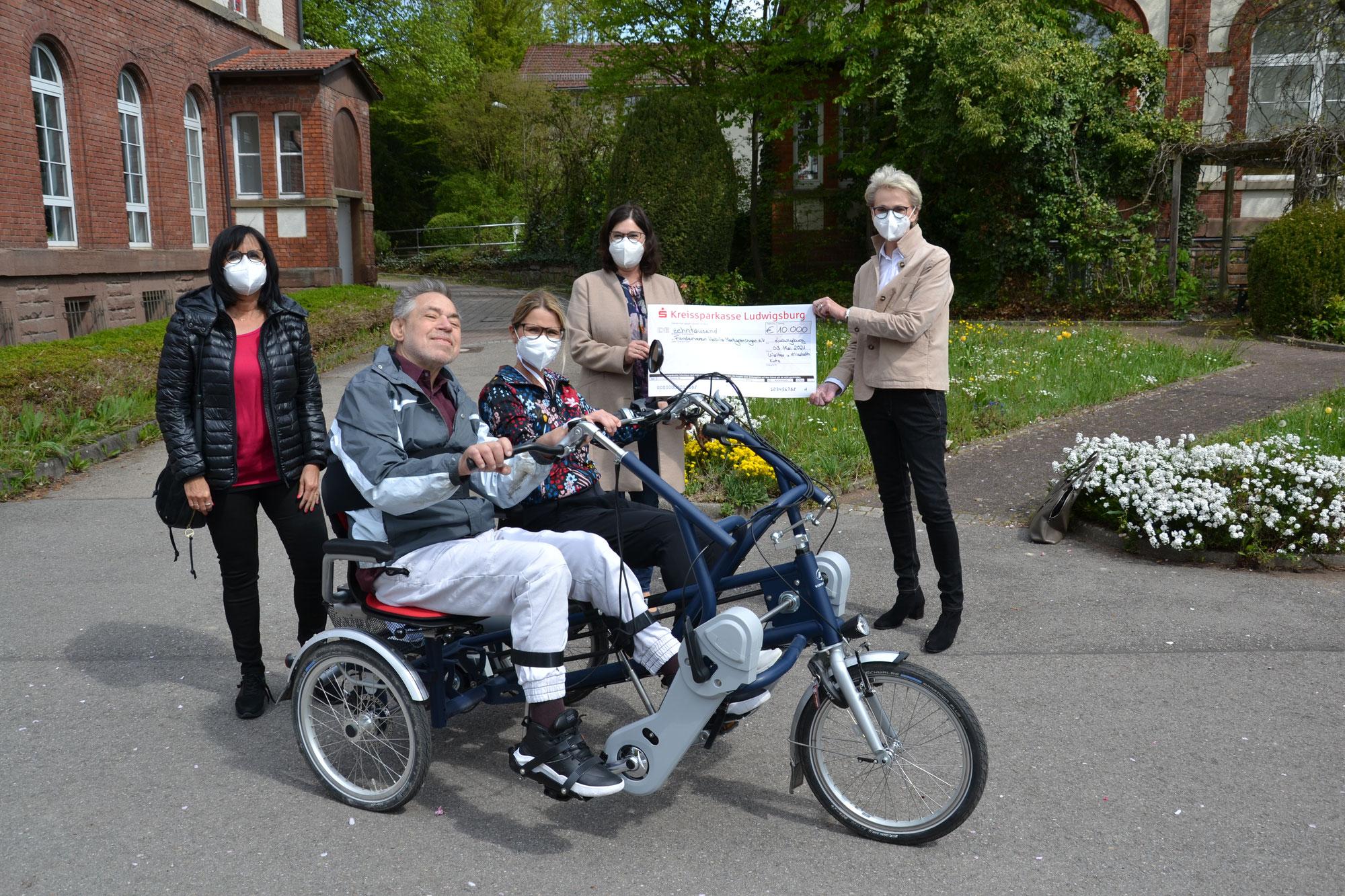 Mit dem Dreiradtandem unterwegs - eine Spende hat es möglich gemacht