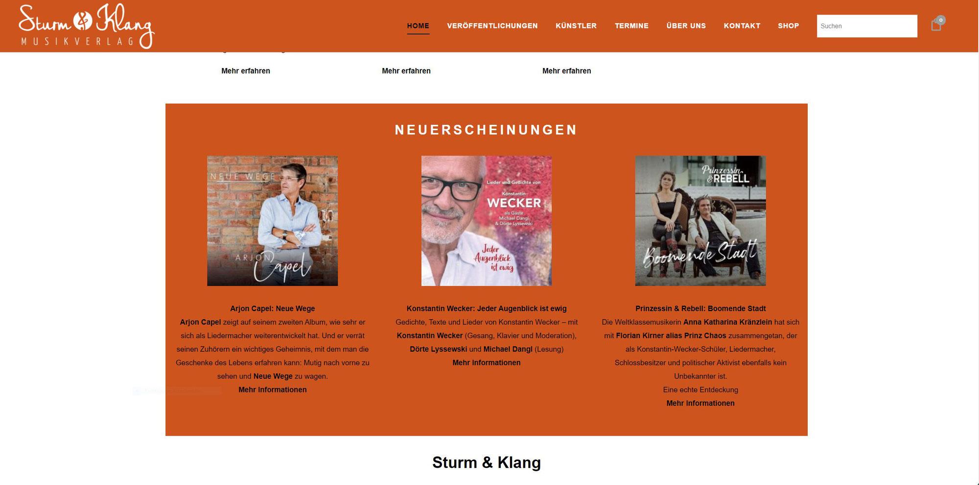 Sturm & Klang Neu Erscheinung