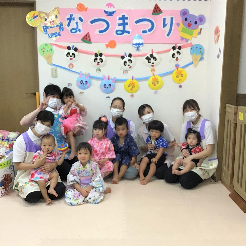8月のイベント☆身体測定&わくわく夏祭り