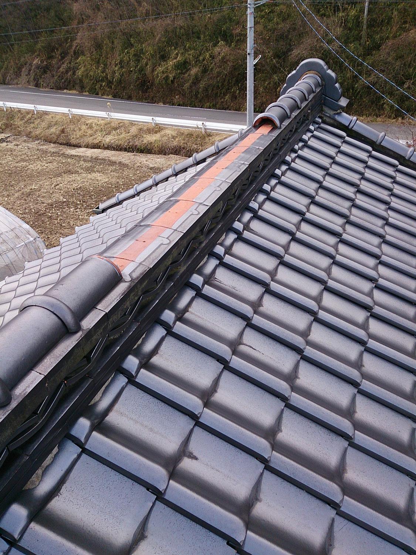 和瓦屋根の「大棟」を耐震工法にて積み直し! in那須町