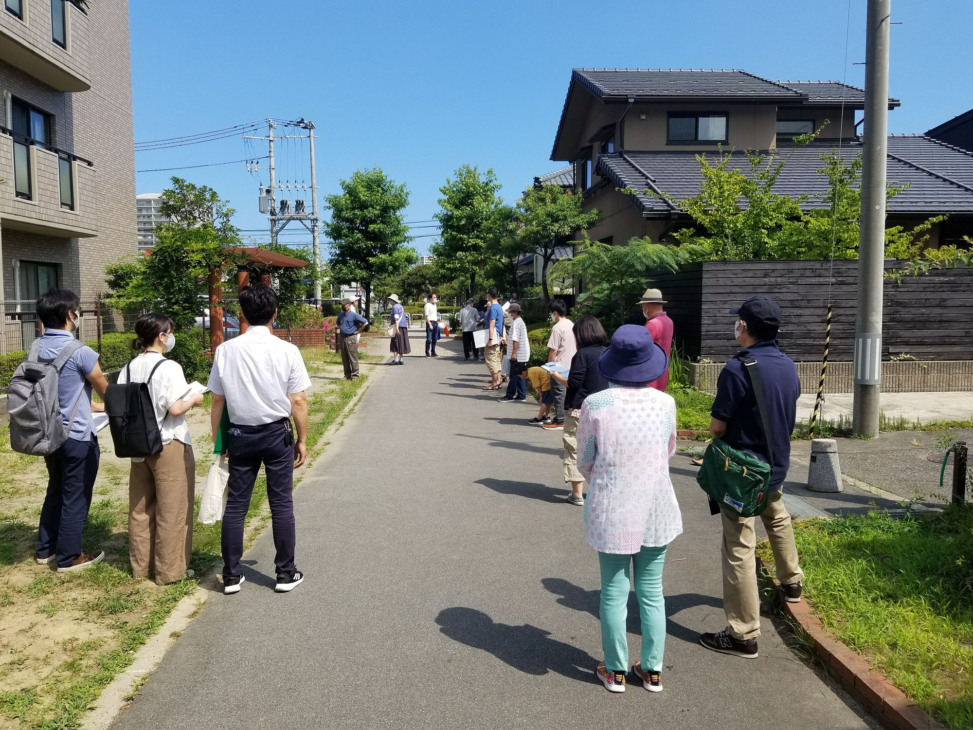新潟市中央区堀之内南にて防災訓練(避難訓練)