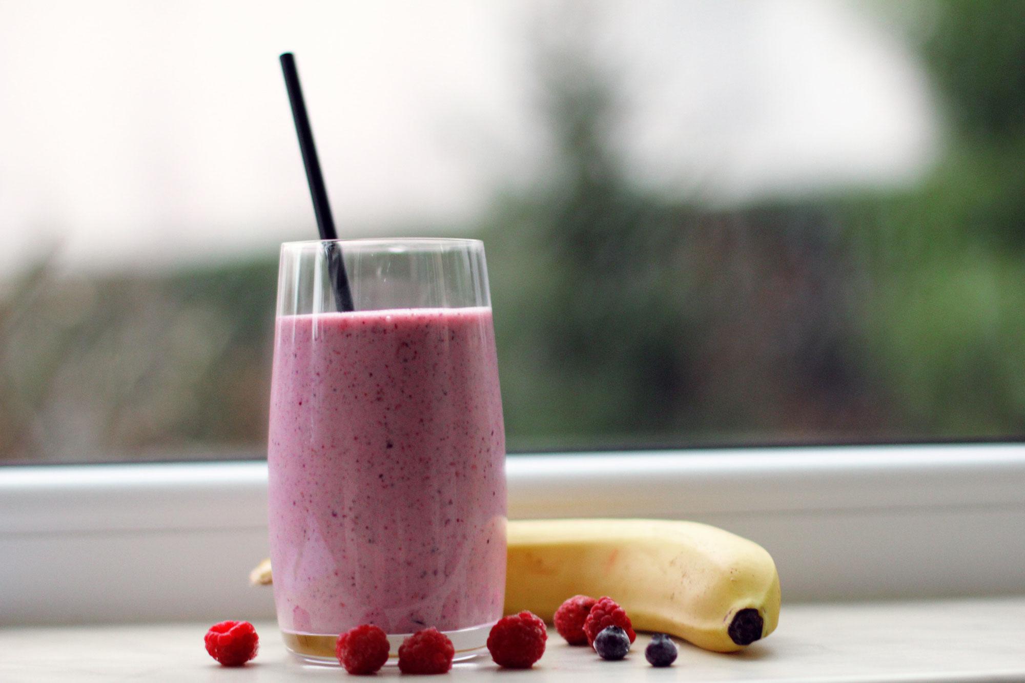 Wochenbett Rezept - Smoothie, Himbeer-Protein