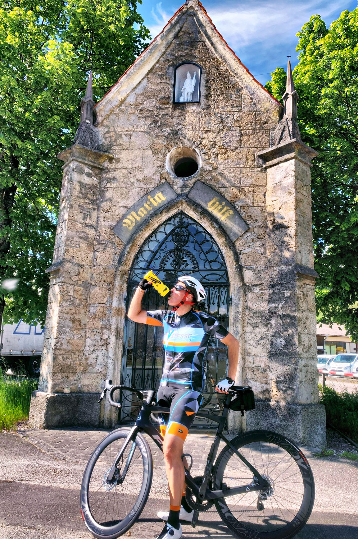 Michaela Dorfmeister am Meridianweg im Bezirk Scheibbs