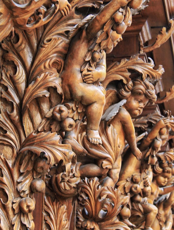 Akanthus als Kirchenschmuck in der Waldsassener Stiftsbasilika
