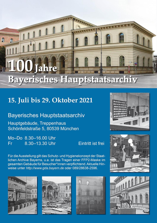 100 Jahre Bayerisches Hauptstaatsarchiv München