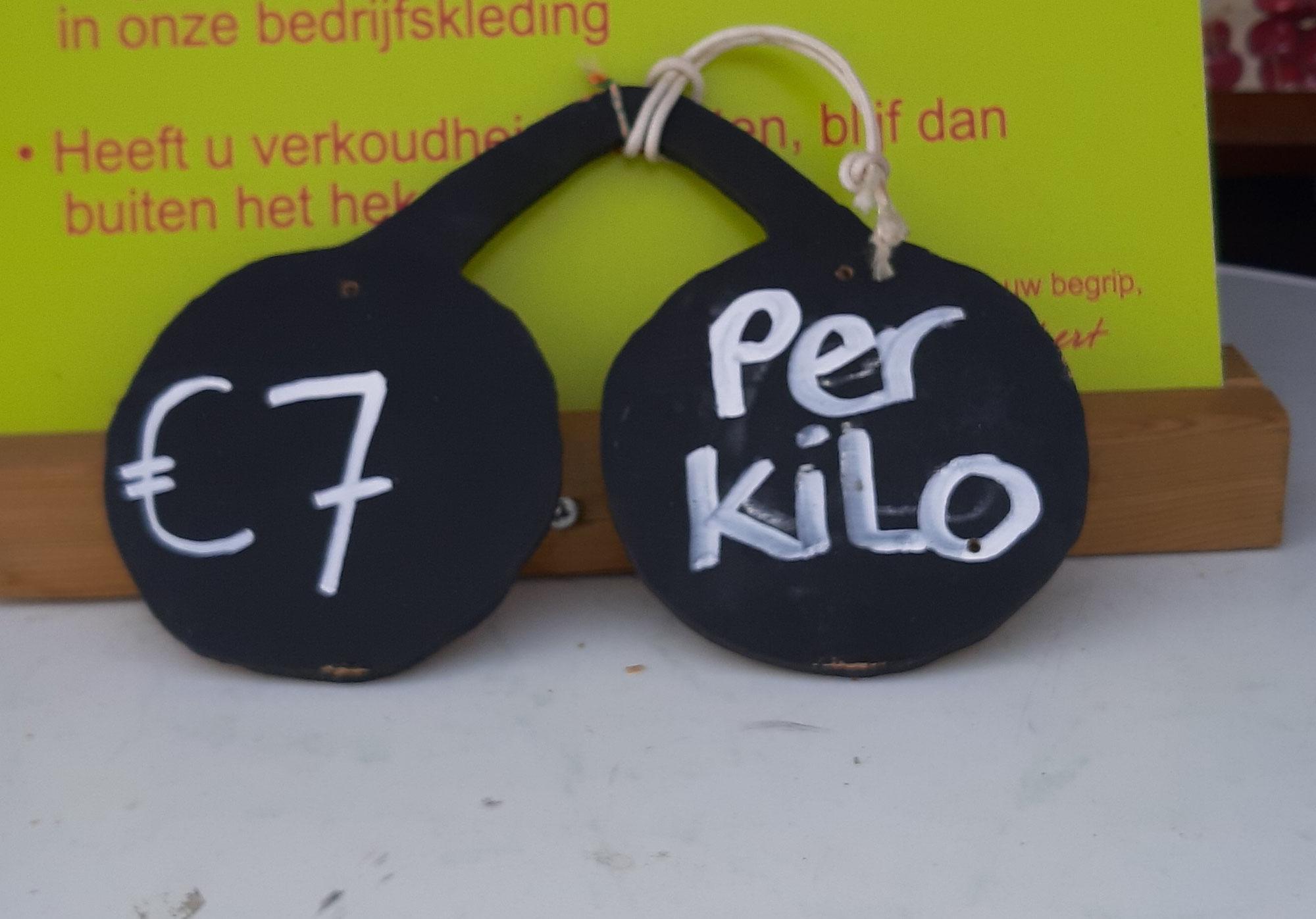 Aanpassing kilo prijs naar € 7,-