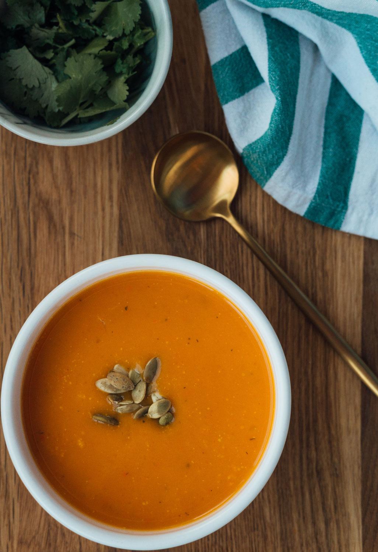 Gaspacho de carottes à la citronnelle 🥕